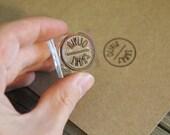 "Custom Rubber Stamp ( 1.25"" x 1.25"" )  - Custom Logo Stamp - Customized Stamp"