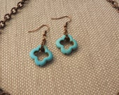 Affinity turquoise earrings