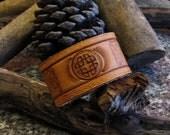 Celtic Knot Design Leather Cuff