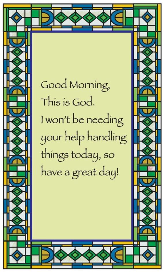 Good Morning from God
