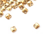 25 Tiny Golden Heart Charms