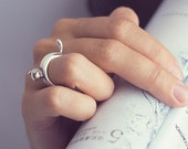 Cat ring (sterling silver)