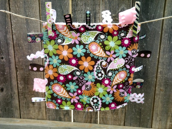 Paisley Baby Take Along Tag Blanket
