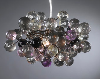Purple and Gray bubbles Pendant lighting ,Decorative Light for Bedroom,bathroom, hall or children room.