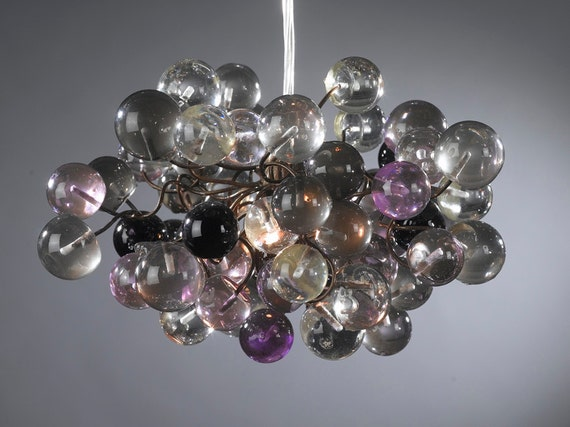 Purple and Gray bubbles Pendant lighting ,Decorative Light for Bedroom,bathroom, hall or children room.