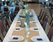 Burlap Runners, Rustic Wedding,  72x16 inches- fits up to 72 inch rounds banquet tables and 6 foot long tables