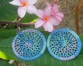 Crocheted Dreamcatcher Earrings in Pastel Multi
