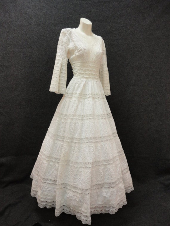 Wedding dress 60s wedding dress 70s by for 70s style wedding dress