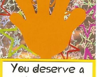 High Five - Teacher Postcards