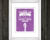 Purple Elvis Presley Quote Typography Print