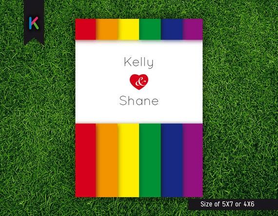 Rainbow Wedding Invitation for awesome invitation template