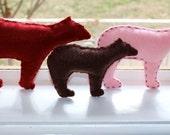 Felt bear set - silhouette toys