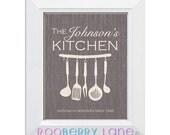 Printable Personalized Kitchen Art