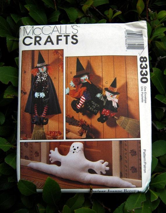 Uncut Pattern - McCalls 8330 - Halloween Package - draftbuster, wall hangings