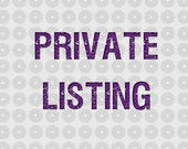 Private Listing for Jenrawe