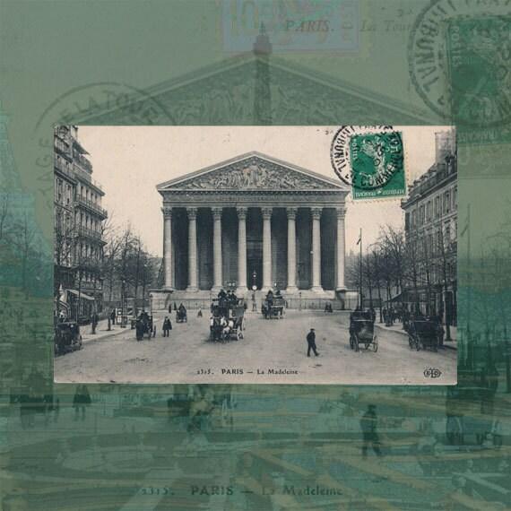 Digital download Paris Vintage collage, ideal for your tile coasters, art prints, pillows...