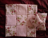 """Hand made Quilted patchwork bed cover for 11.5 """"fashion doll  Barbie Bratz etc"""
