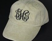 Ladies' Monogrammed Baseball Cap - Personalized with Monogram - Choose from 20 Colors
