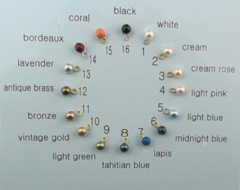 Add on 3mm swarovki pearl charms t iny pearl