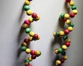 Asanti spiral wood bead earrings