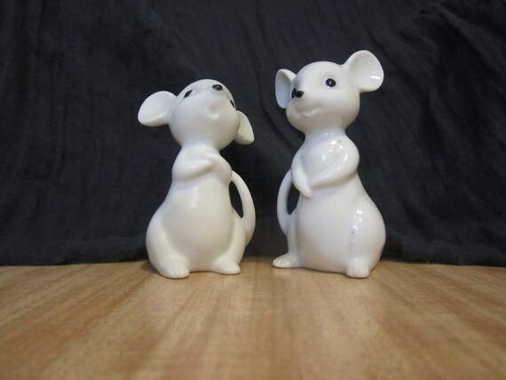 On SALE - Two porcelain mice