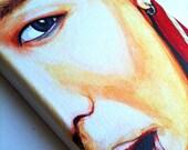 BIGBANG: G-Dragon Gouache painting on canvas