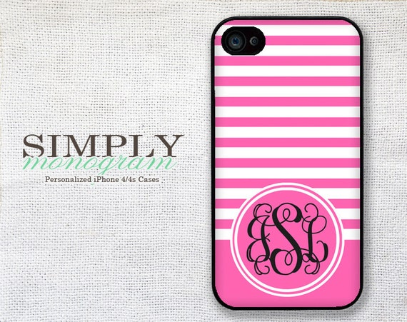 iPhone 4 Case iPhone 4s Case iPhone 5 Case iPhone 5s Case iPhone 5c Case - chiq pink pattern monogram