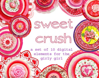 Digital Clip Art -- Sweet Crush Collection (Instant Download)