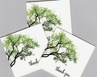 Spring Trees Mini Thank You Cards - Set of 20