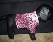 Pink & Black Cheetah Animal Print Hooded Dog Sweater/Clothing Yorkie Chihuahua S Small
