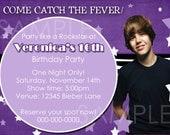 DIY Printable Justin Bieber Birthday  Invitation