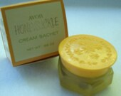 Mint NIB Vintage Avon Collectible - Honeysuckle Cream Sachet