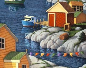 """Along the Shore 7.5"""" x 15"""" Image on 11"""" x 17"""" paper by Paul Hannon FREE SHIPPING Canada & US"""