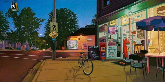 "Jubilee Road, 5"" H x 10"" W, Offset Print by Paul Hannon, FREE SHIPPING Canada & US"
