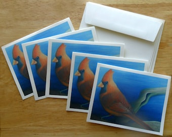 Cardinal Note Card Set (5 cards)