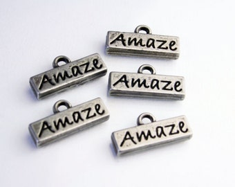 AMAZE Word Charms - Supplies and Jewelry Accessories SUP 005
