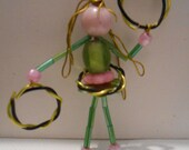 Custom Order -- Beaded Hoola Hoop Girl -  By Germaine G. Egrie