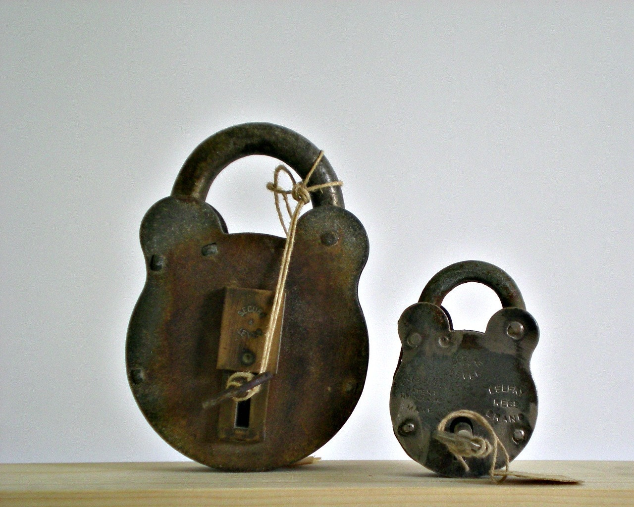 vintage lock and key industrial decor antique lock steel