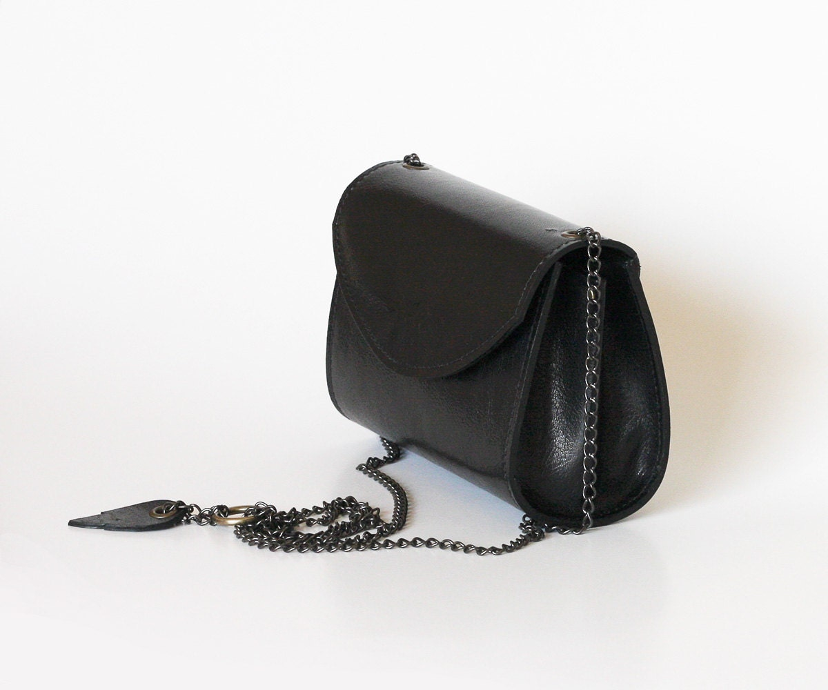 Black leather purse small leather bag black leather handbag