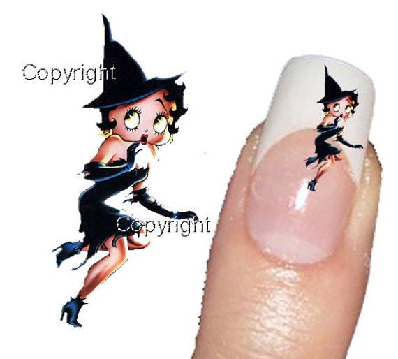 Betty Boop Nails: Items Similar To 40 Betty Boop Halloween 018 Tattoo Nail