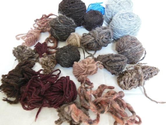 Lot 40 - Handspun Wool yarn, miscellaneous assortment, one pound.