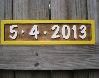 Wedding Sign - Personalized Wedding Date Sign - Routed - Wedding Sign