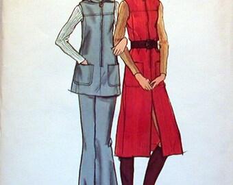Vintage Butterick Pattern 6376 Sz. 10 NOS Misses Jumper, Tunic and Pants