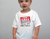 Children toddler 'Brother for sale' White tshirt for boys humorous, personalized t-shirt for toddlers. Any size available. Cheap