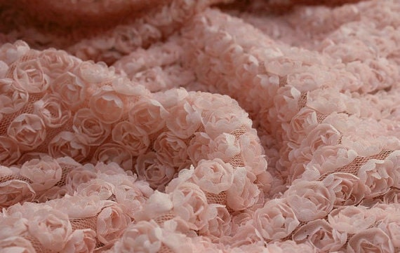 Fabric With Pink Roses Pink Rosette Lace Fabric Baby