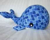 Blue Whale Plush - Stuffed Animal Toy