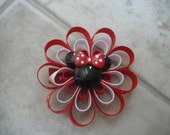 Adorable Loopy Flower Minnie Mouse Clip
