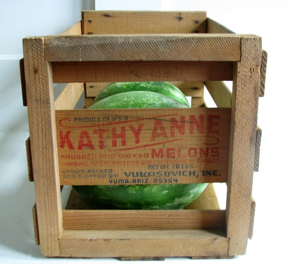 Wooden Melon crate