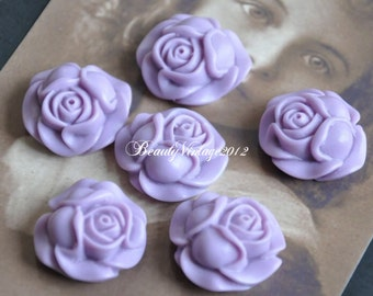 4 PCS Resin Cabochon 27mm Rose Cabochons Beautiful Colors Supplies For Handmade Vintage Jewelry Embellishment---RF2-7