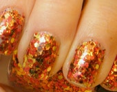 Autumn Leaves: hand mixed glitter nail polish Full size .5 oz. Coco Allure - CocoAllurePolish